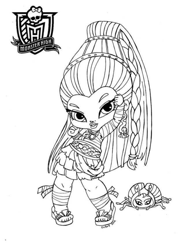 free printable monster high coloring pages for kids - Monster High Baby Coloring Pages