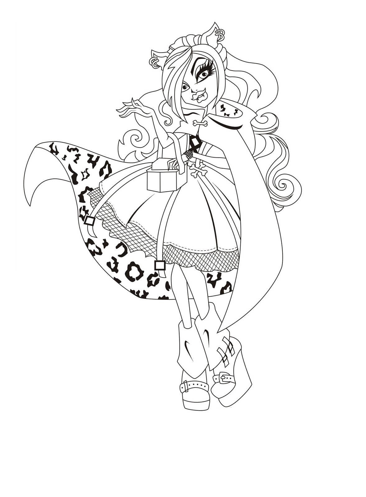 Monster High Coloring Pages And Monster High Dolls On