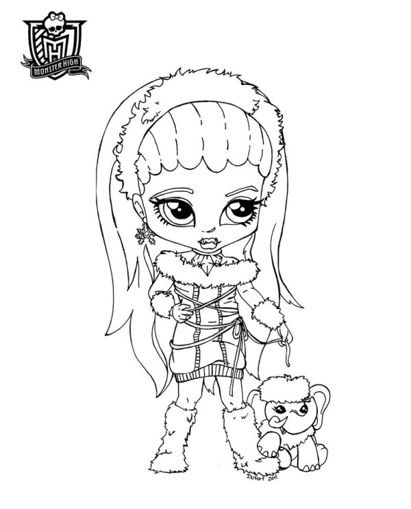 baby monster high coloring pages # 14
