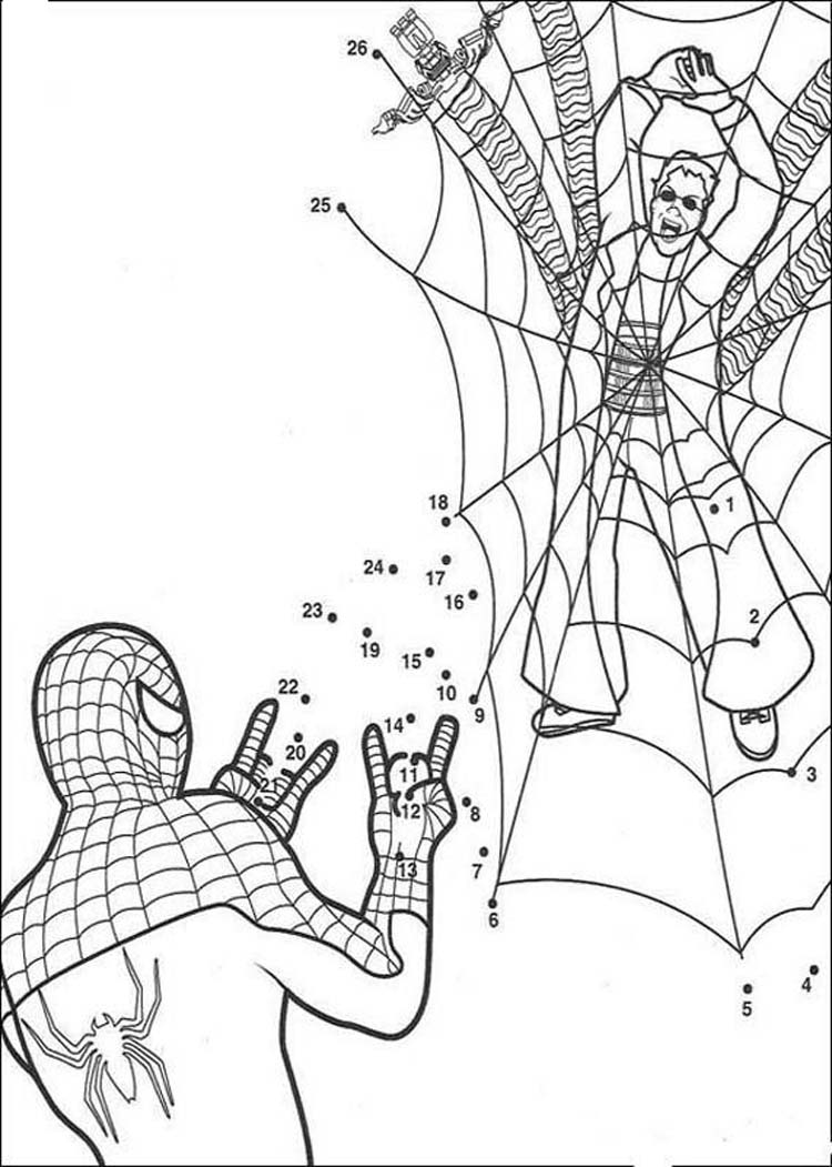 Coloring Page Spider Man