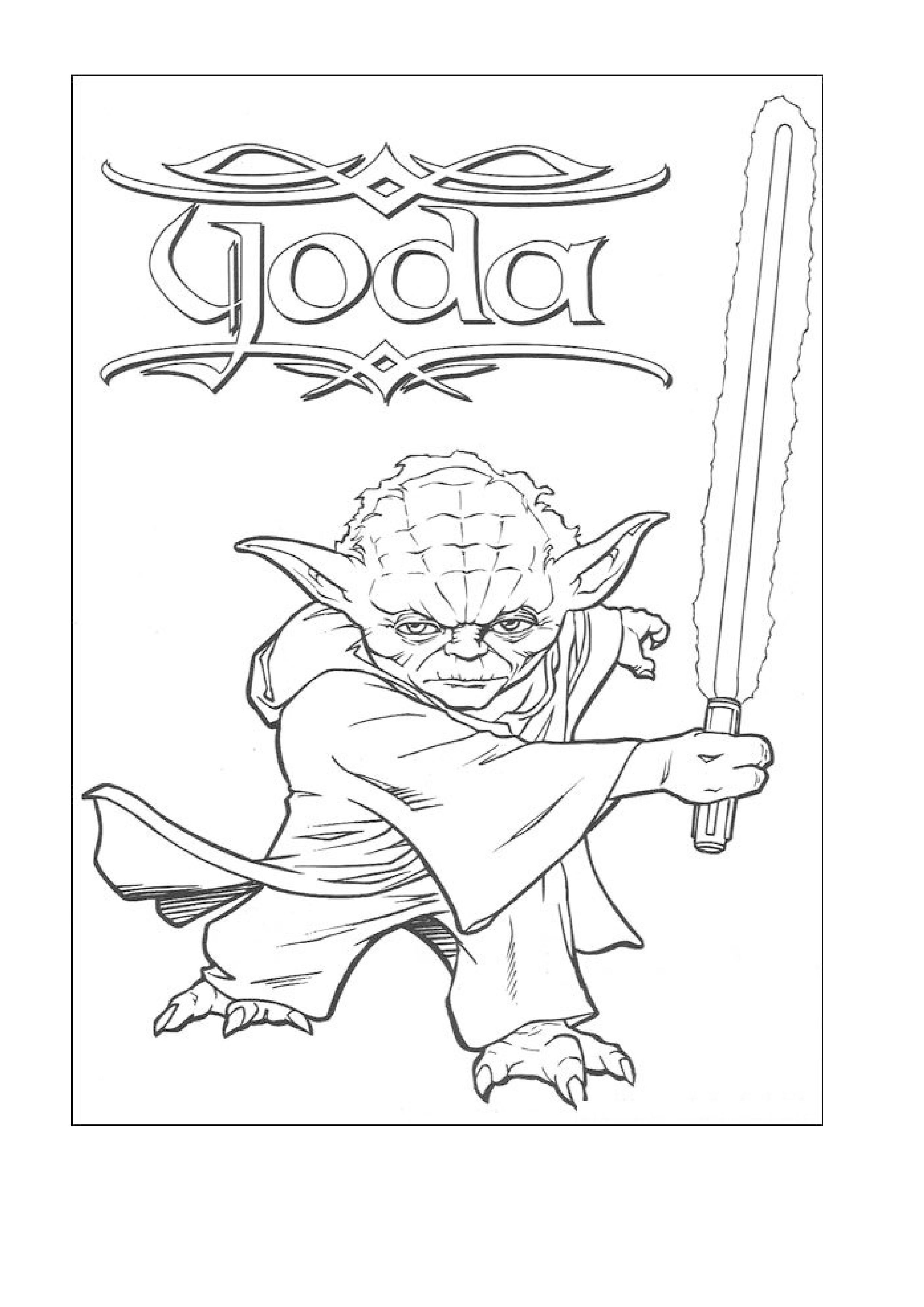Yoda Coloring Page Free