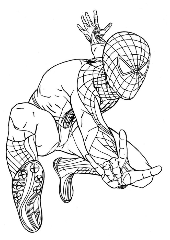 free printable spiderman coloring pages for kids - Free Printable Spiderman Coloring Pages