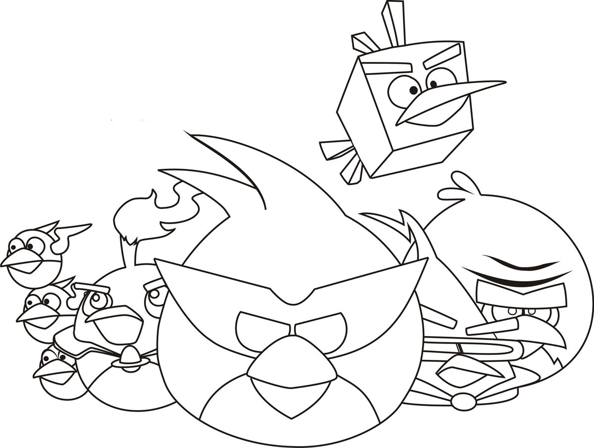 free coloring pages of angry bird transformer