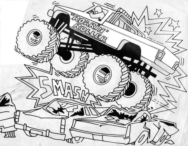 Bigfoot Monster Truck coloring page | Free Printable Coloring Pages | 620x800