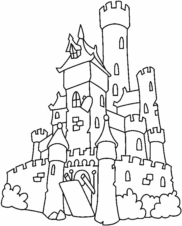 Free Printable Castle Coloring Pages For Kids | 775x626
