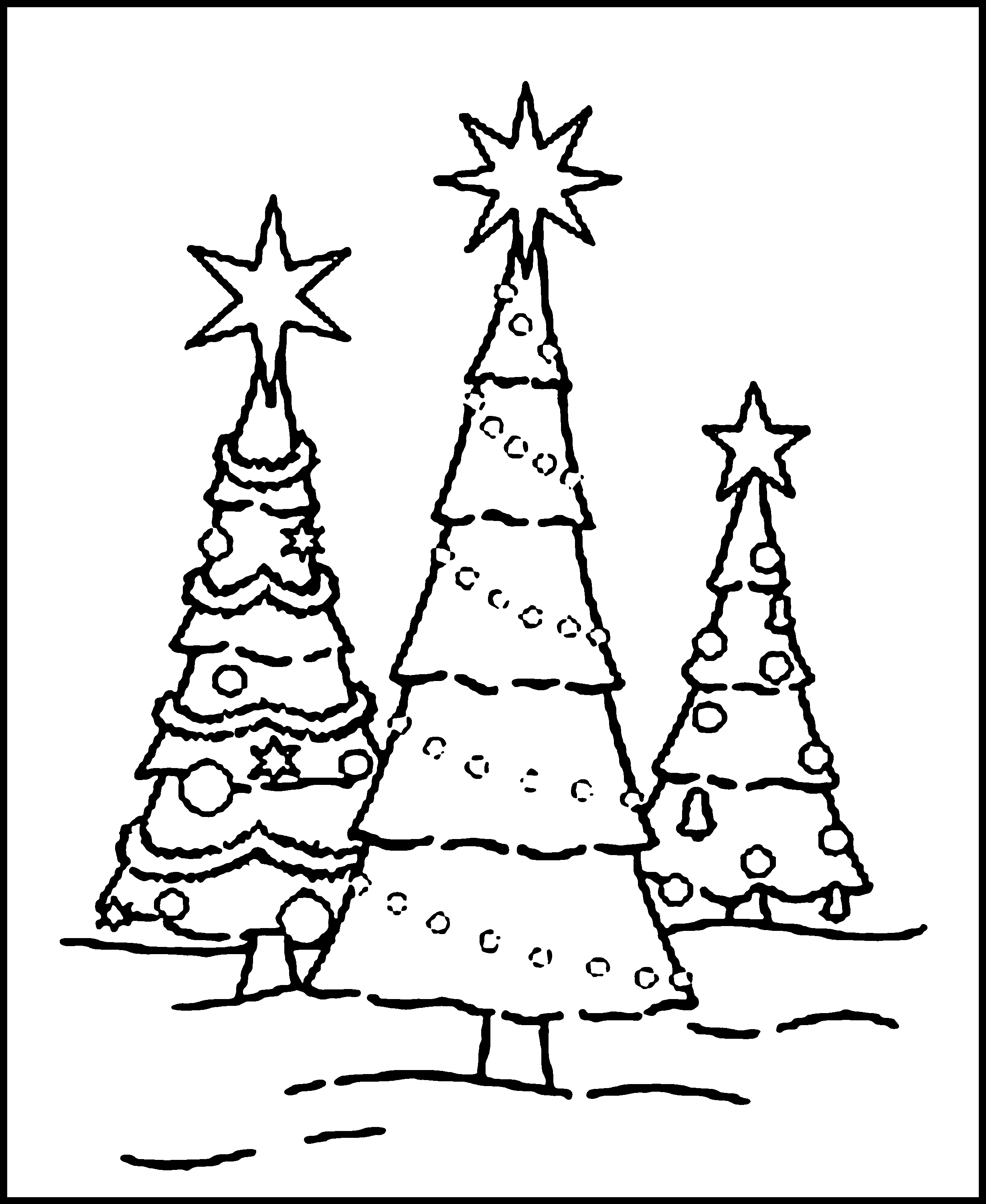 Christmas 40 Free Printable Christmas Tree Coloring