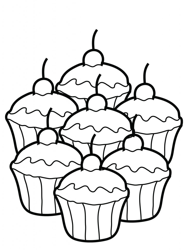 free printable cupcake