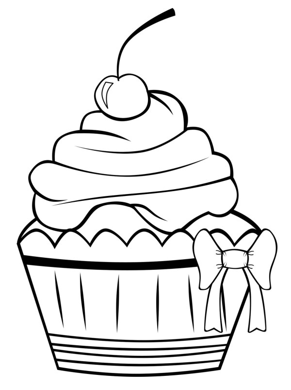 cupcakes coloring pages # 4