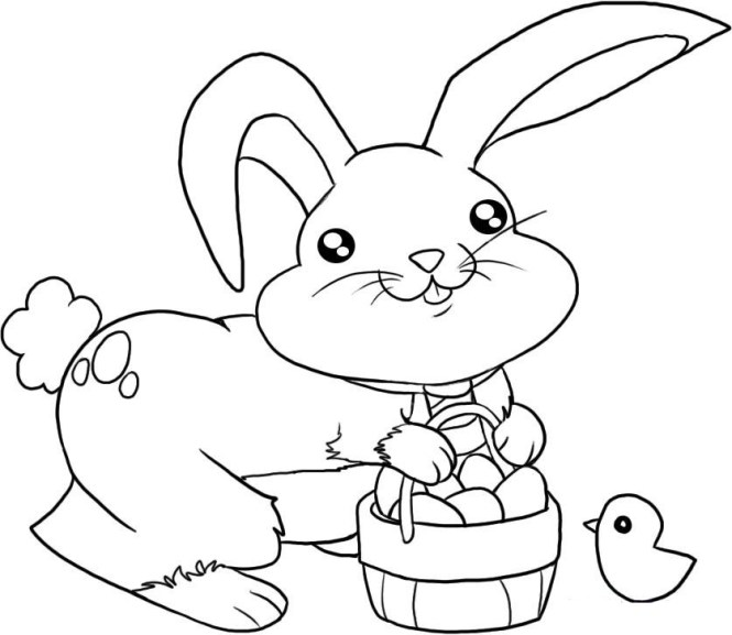 Printable Easter Bunny Colouring Pictures | Coloring Page for kids