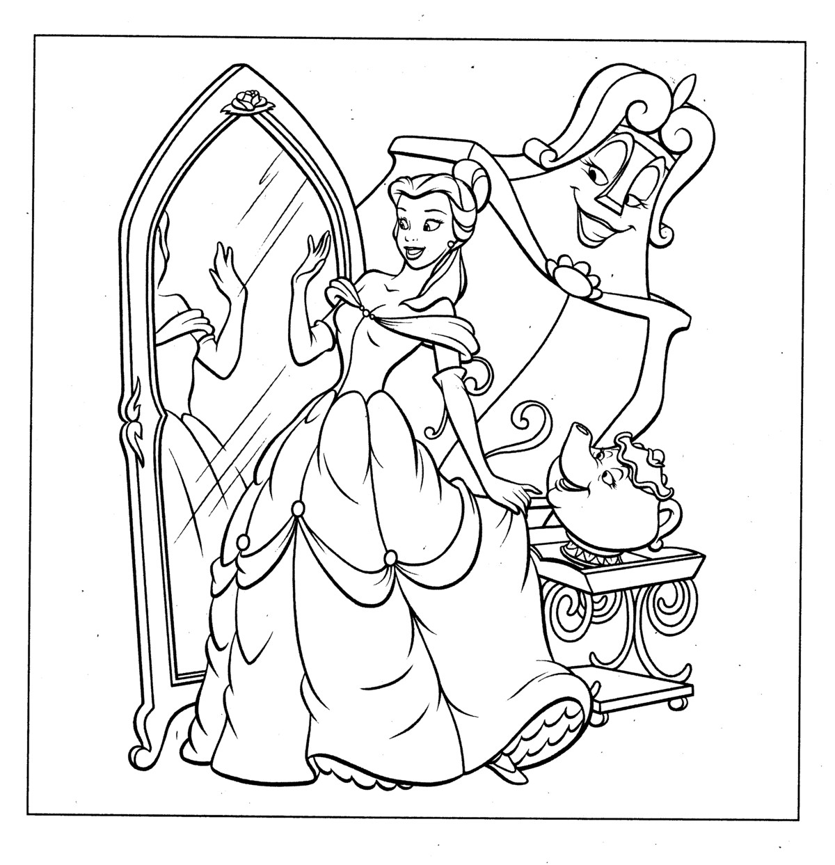 Rapunzel Coloring By Number Coloring Pages