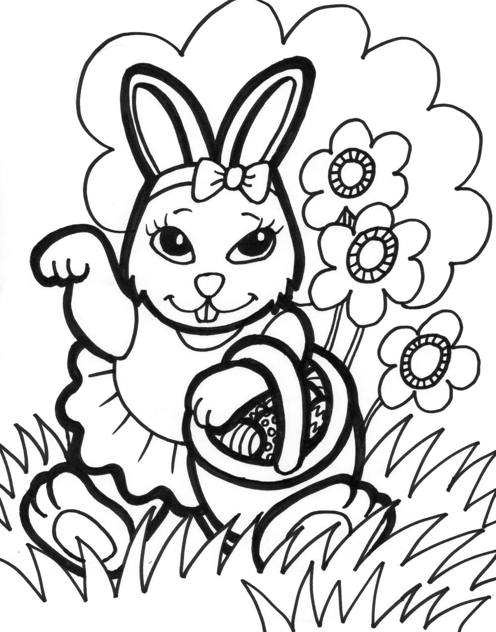Bunny Coloring Pages Free Peter Coniglio20 Disegni Da Colorare Of