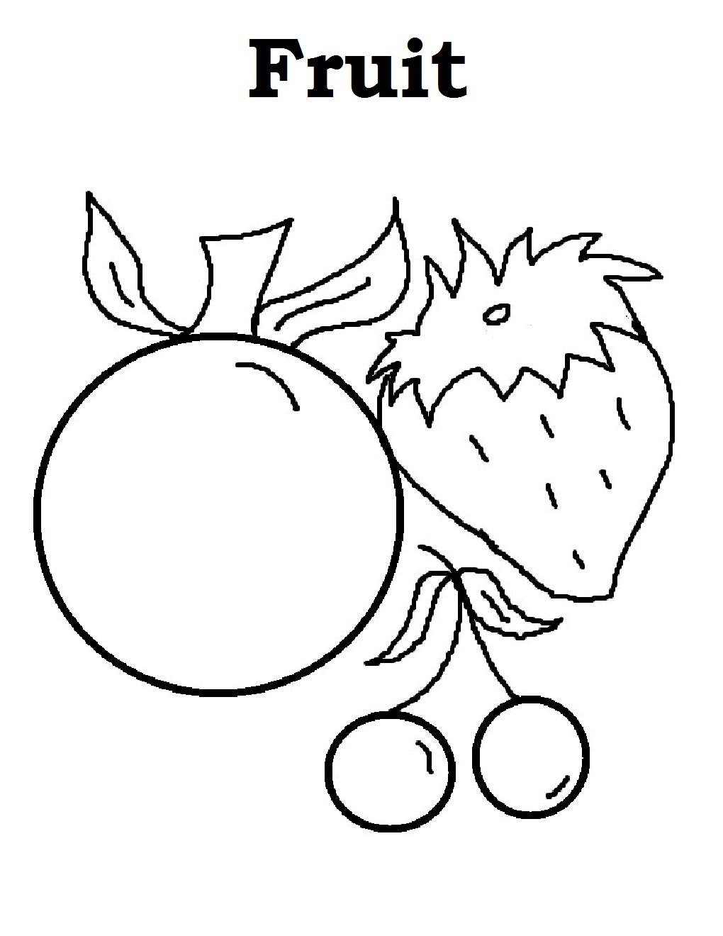 Free Printable Fruit Coloring Pages For Kids | fruits coloring pages for preschoolers