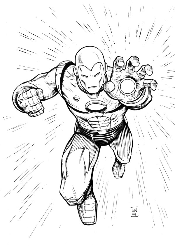 ironman coloring page # 29