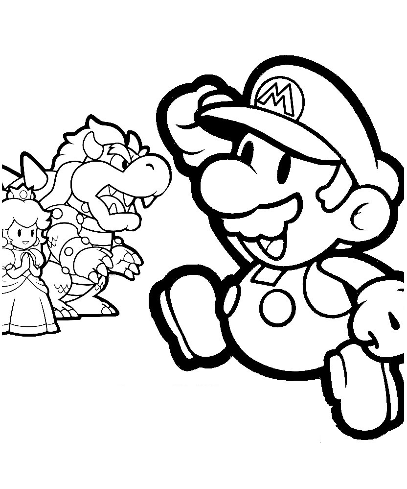 mario and sonic coloring pages mario coloring pages online