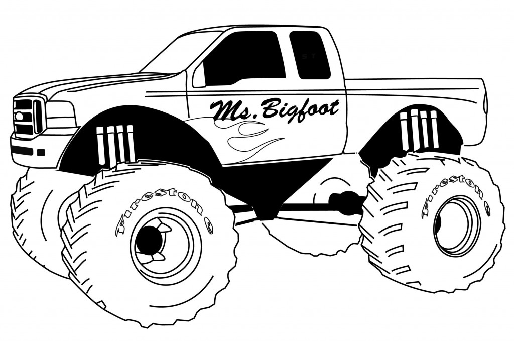 Monster Truck Coloring Pages - GetColoringPages.com | 679x1024