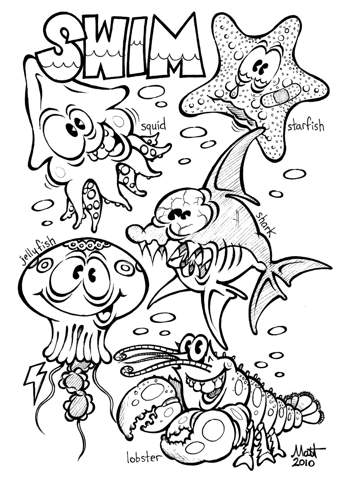 Free Printable Ocean Coloring Pages For Kids | coloring pages for sea animals