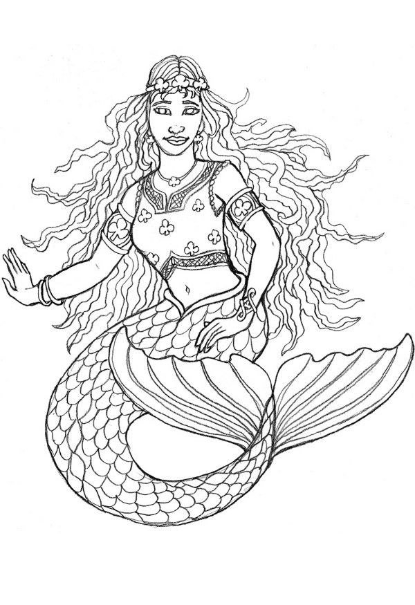 free printable mermaid coloring pages for kids