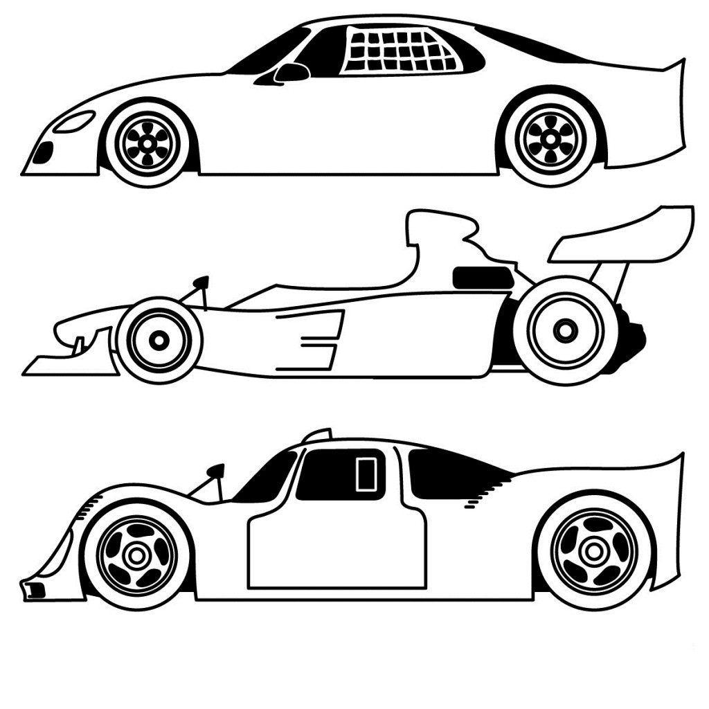 free coloring pages of sports car