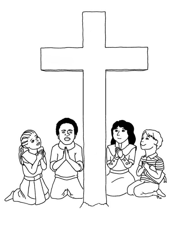jesus on the cross coloring page # 42