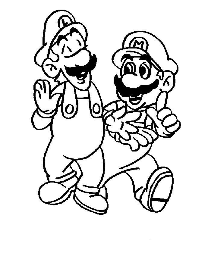 super paper mario coloring pages for kids coloring pages super