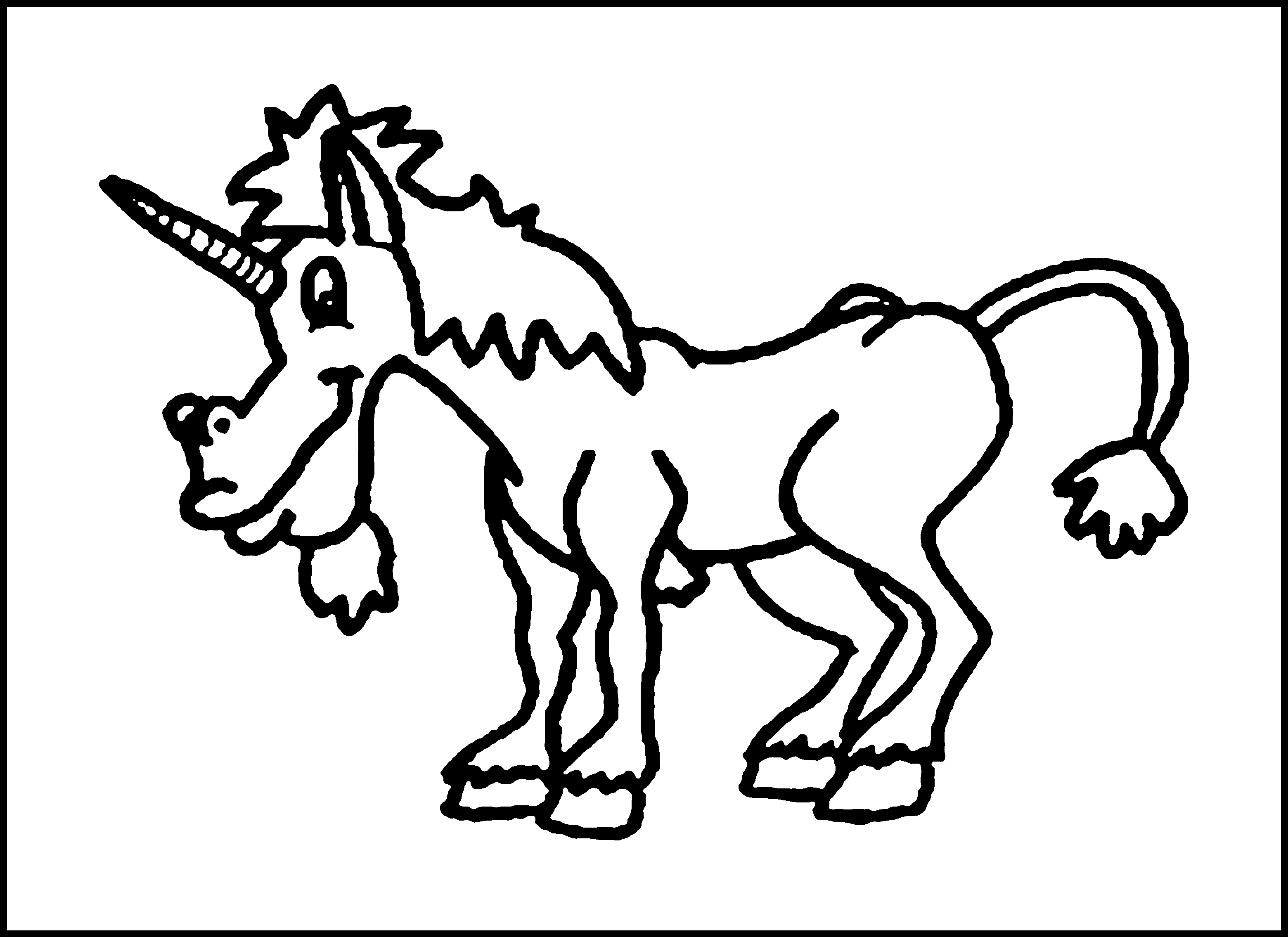 Evil unicorn colouring pages page 2