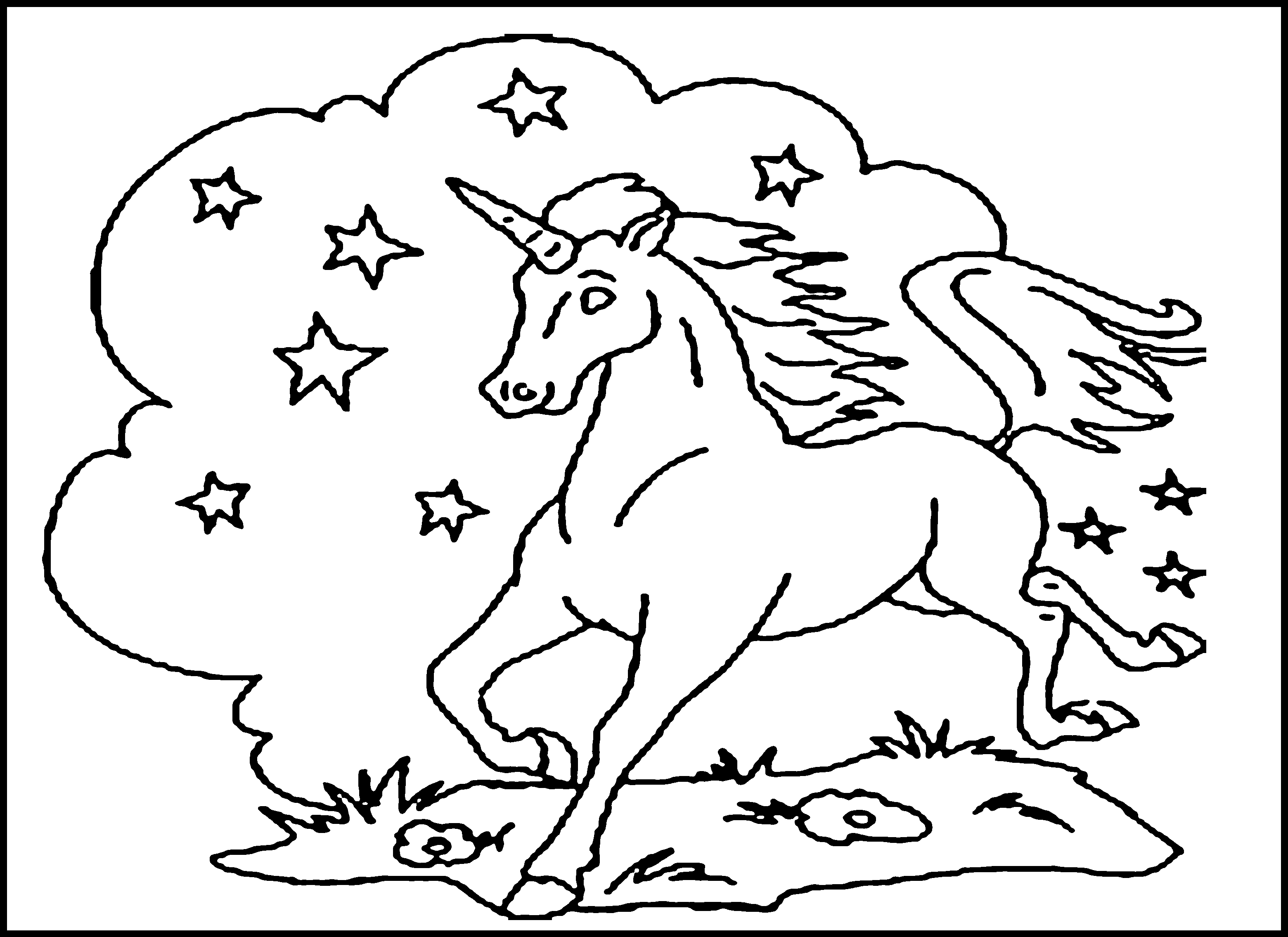 free printable unicorn for