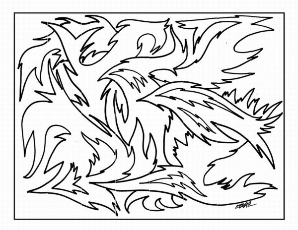 free printable abstract coloring pages # 9