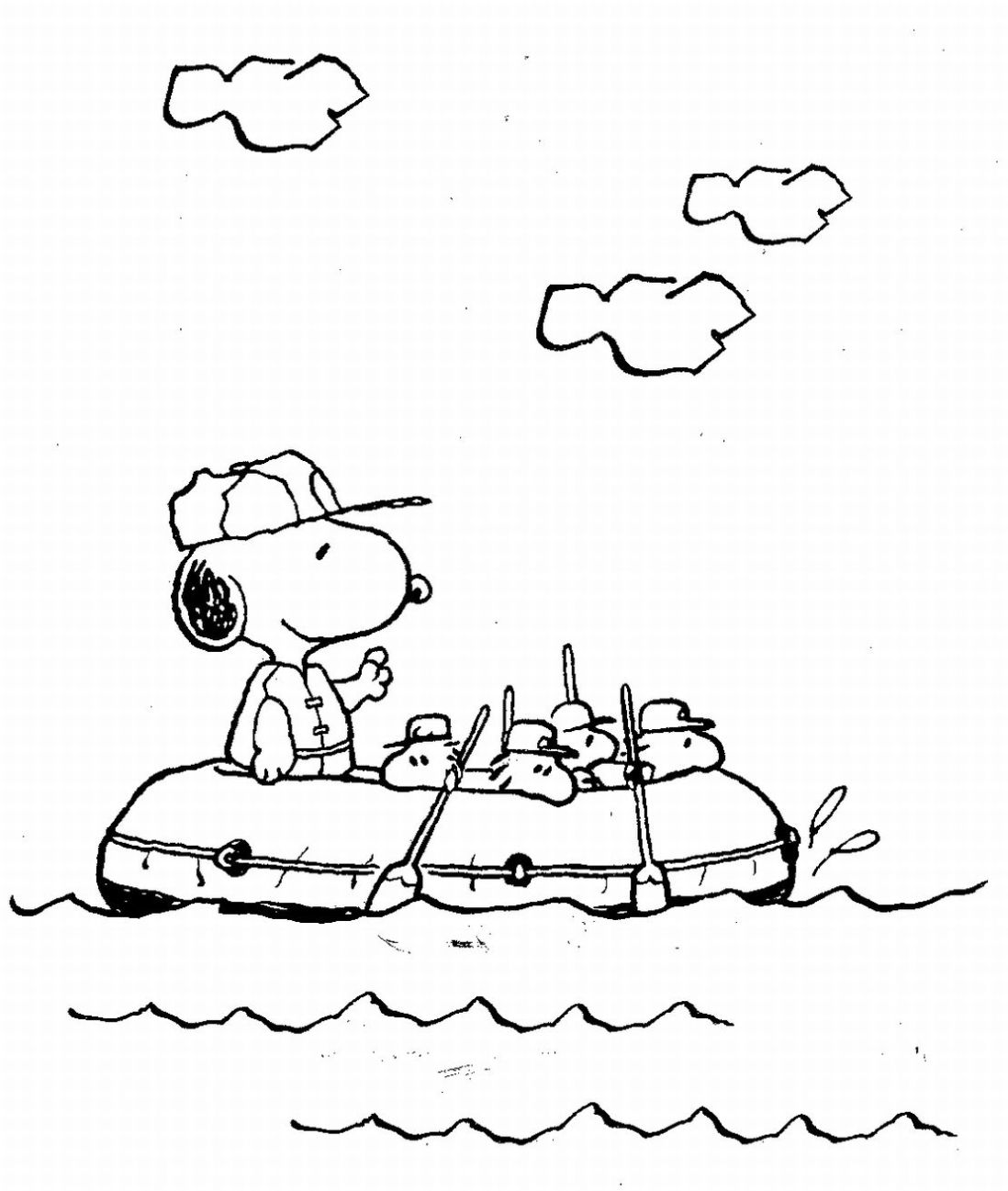 Snoopy And Friends Coloring Pages. 6 treasured snoopy christmas ...