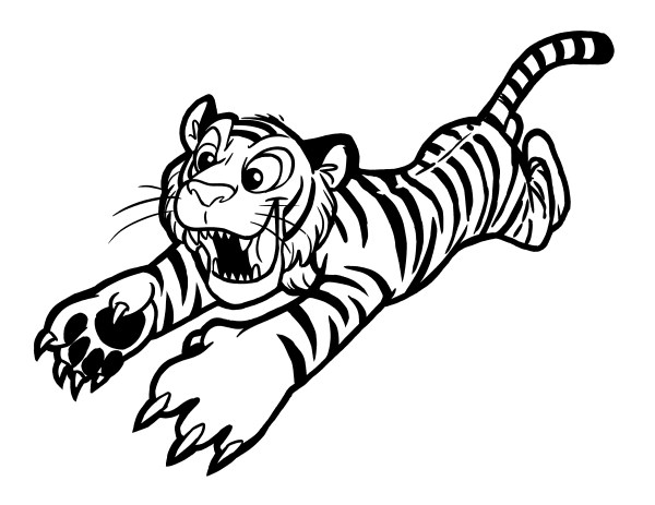 baby tiger coloring pages # 5