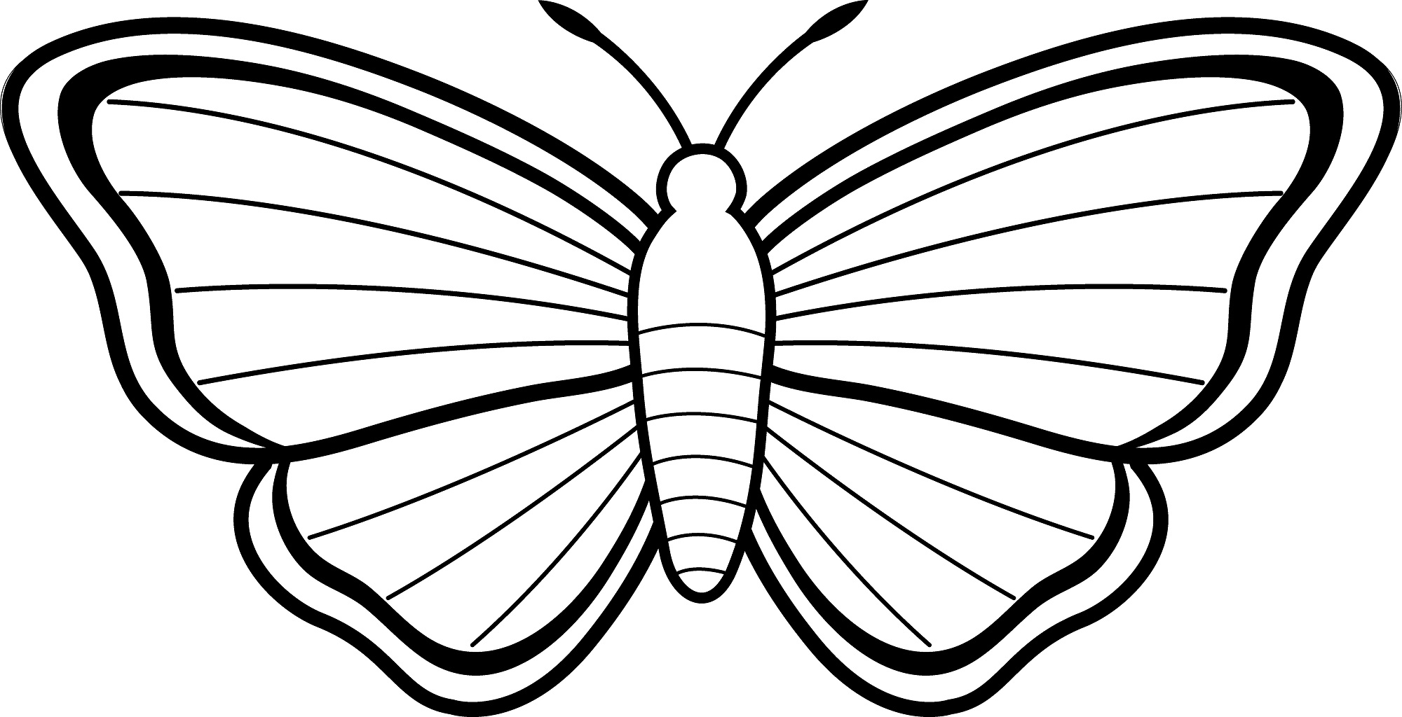 simple butterfly coloring page butterfly kids coloring pages