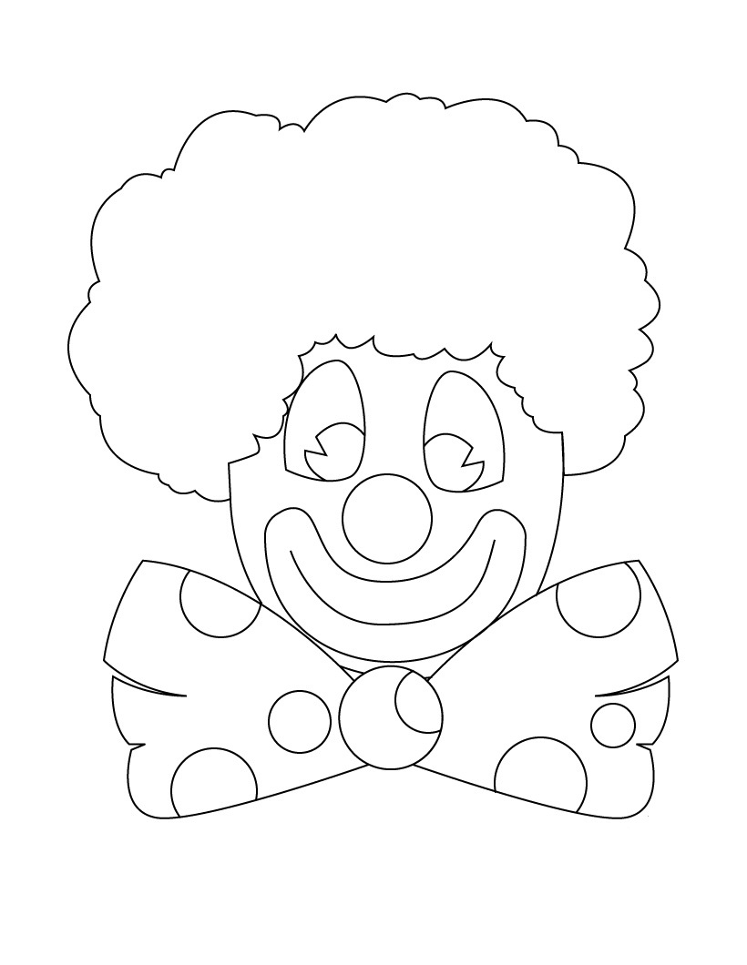 coloring clown printable clown coloring pages coloring me. happy ...