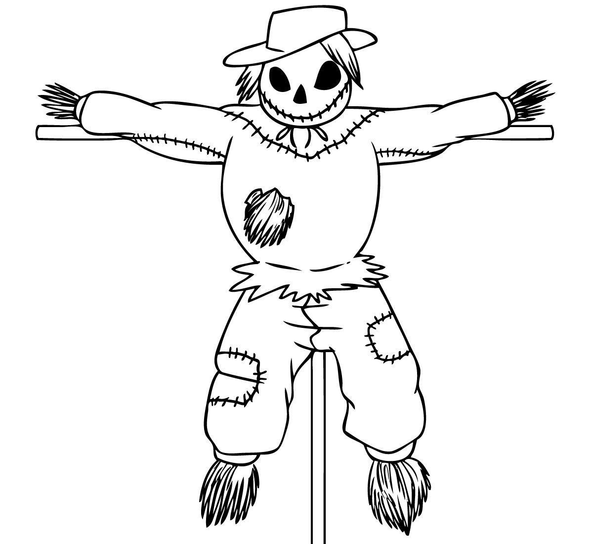 Free Printable Scarecrow Coloring Pages For Kids