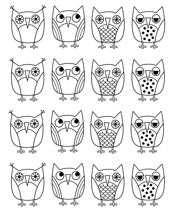 printable owl coloring pages # 24