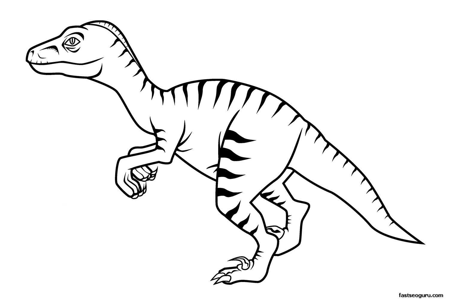 Dinosaur Coloring Template Coloring Pages