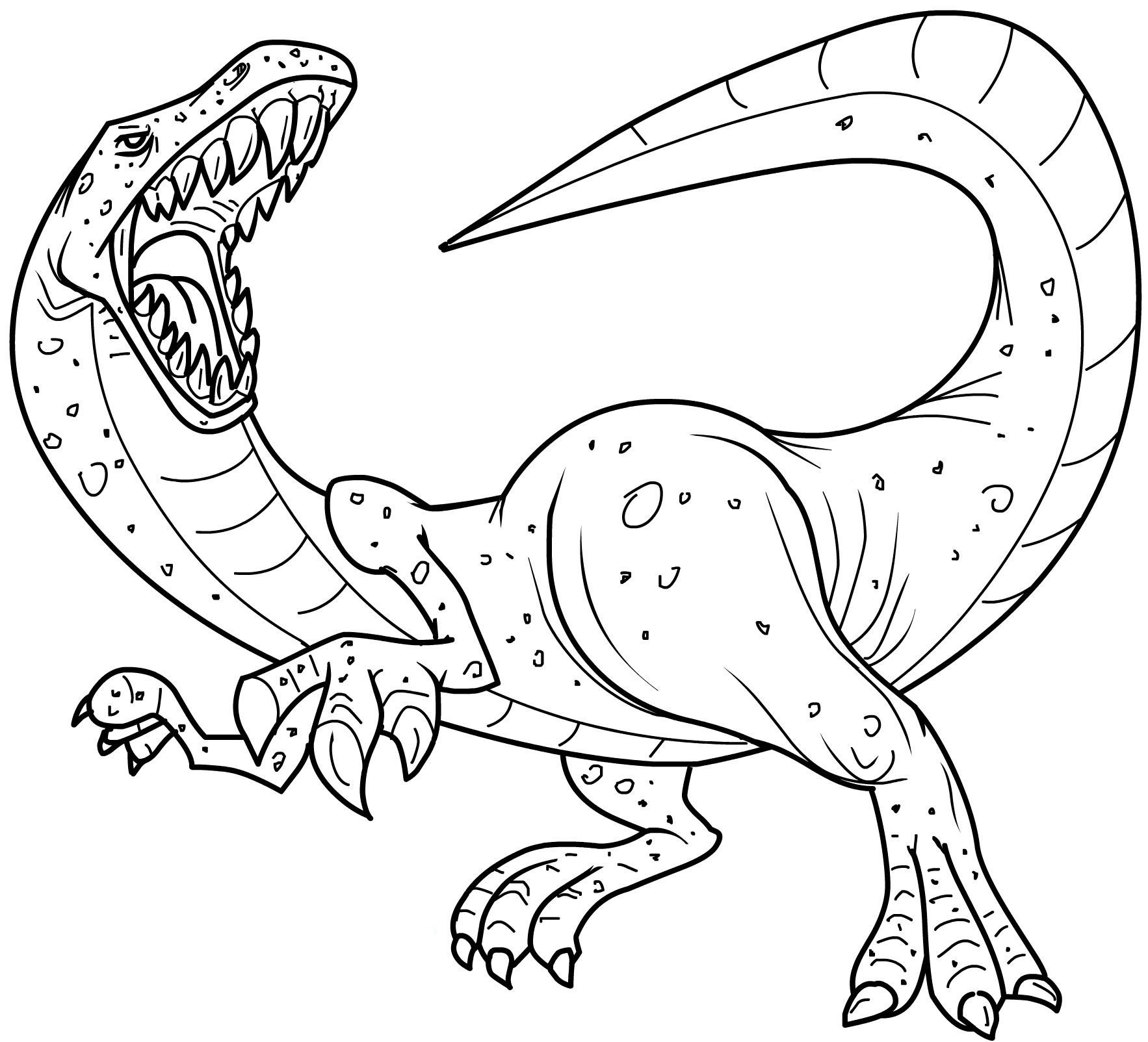 Scary dinosaur coloring pages - Realistic Coloring Pages