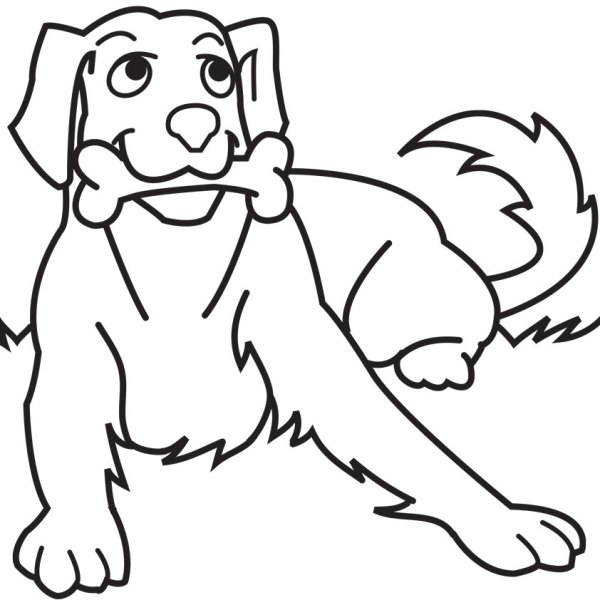 printable dog coloring pages # 5