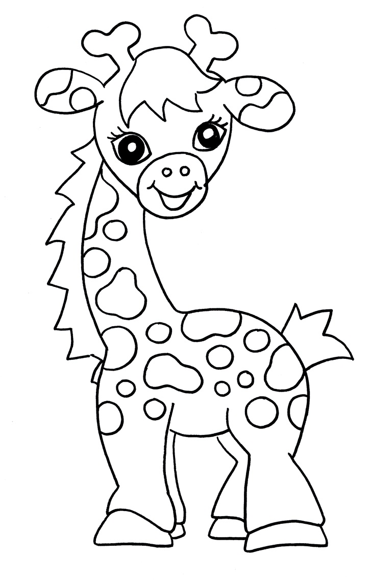 free printable giraffe for
