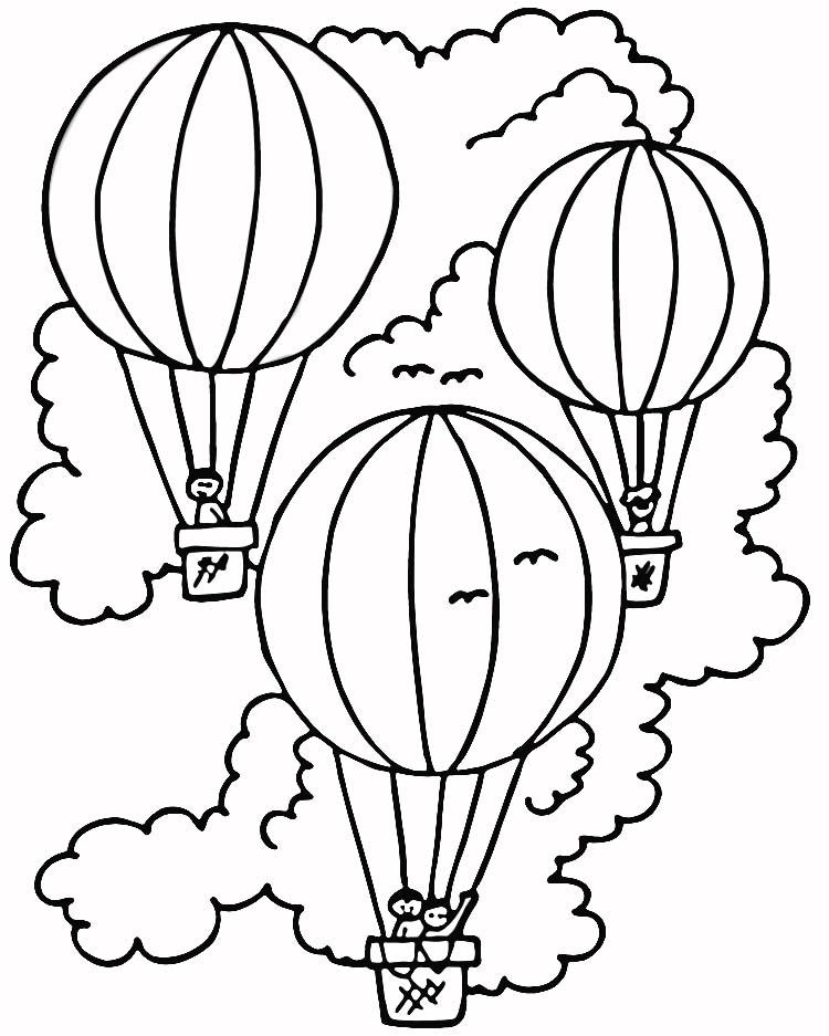 Birthday Balloon Coloring Pages