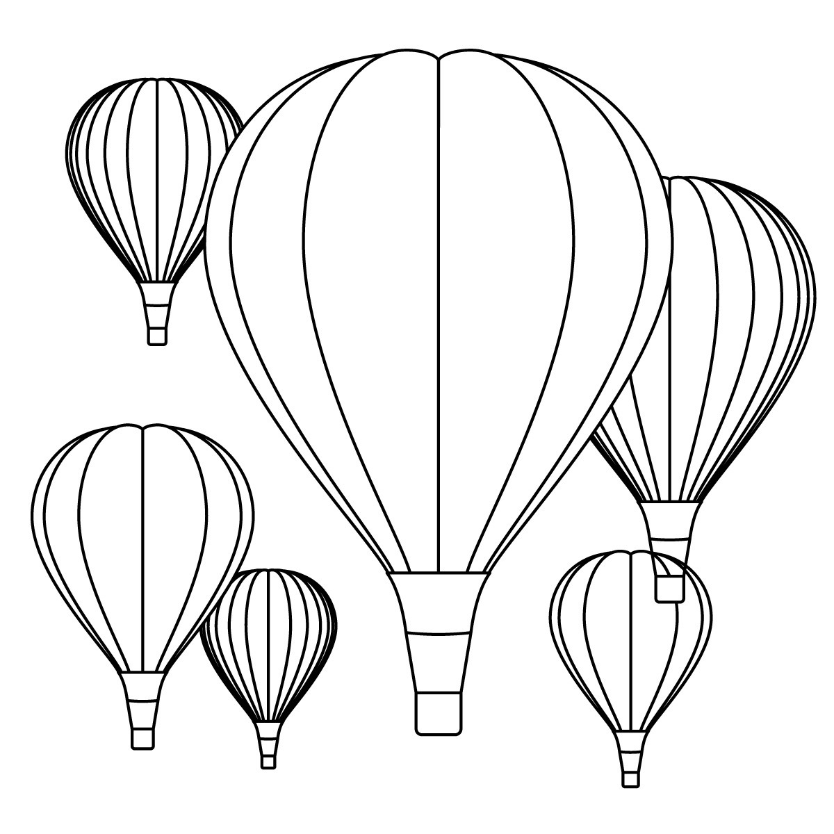 free printable hot air pages for kids