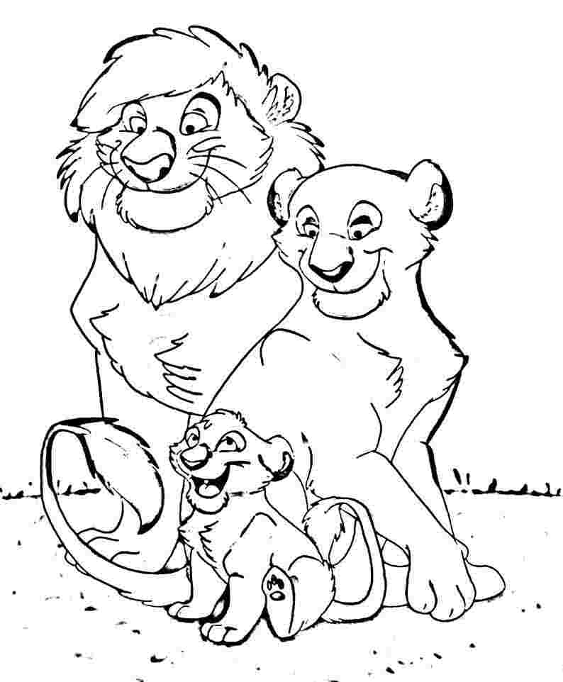 baby lions colouring pages page 3