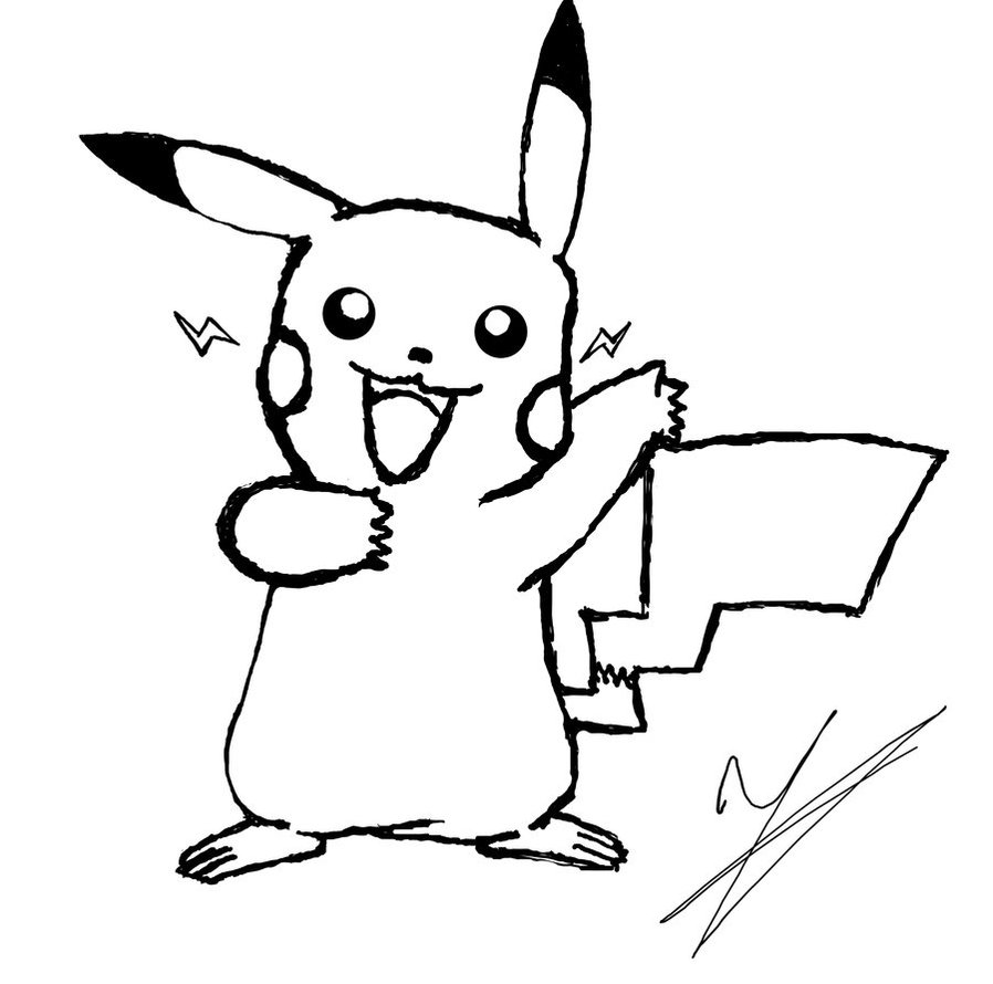 free printable pikachu pages for kids