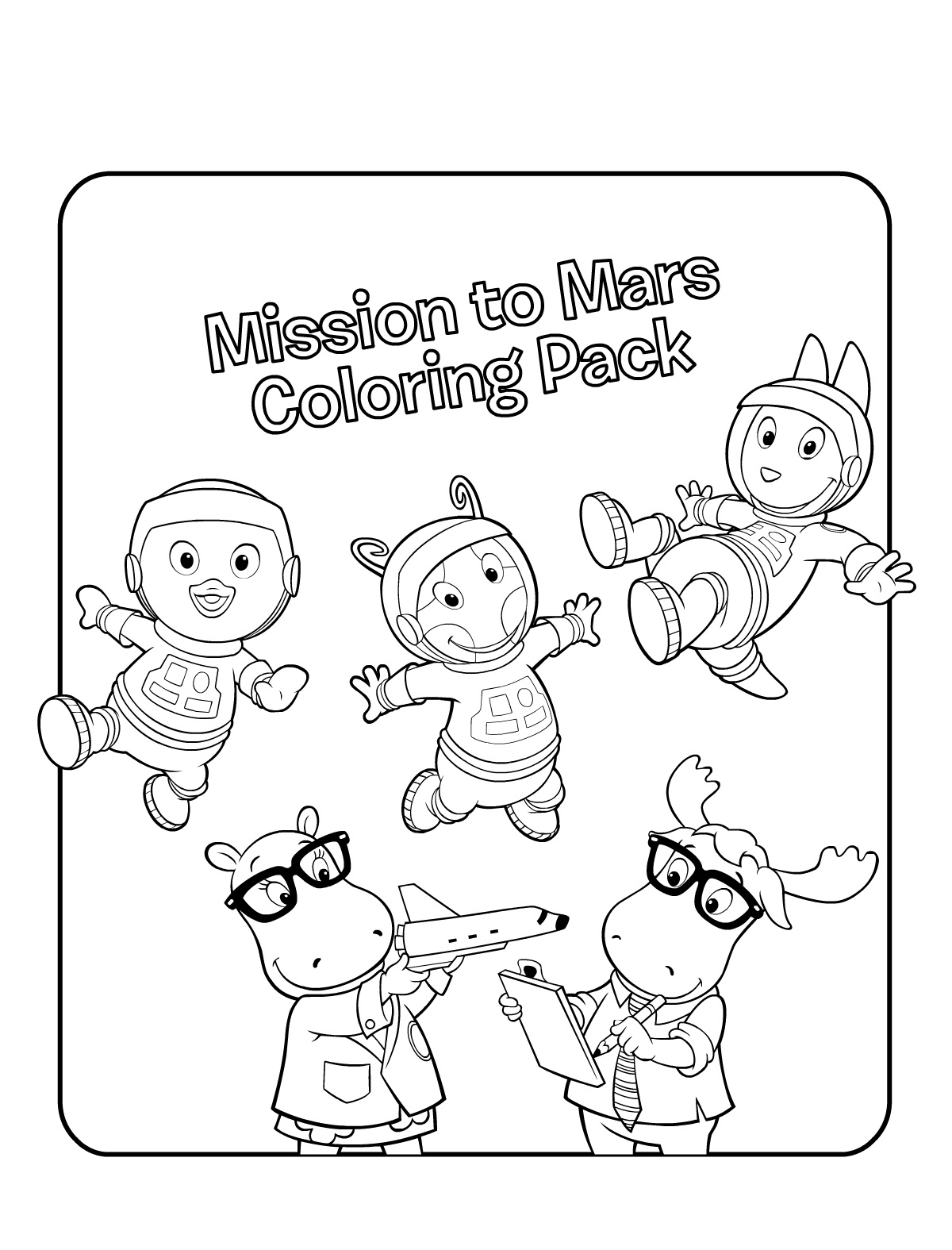Printable Backyardigans Coloring Pages For Kids | 1575x1200