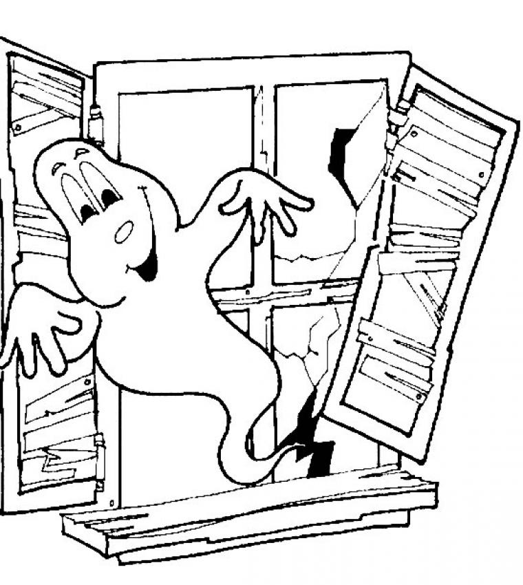 Cute Halloween Skeleton Coloring Pages