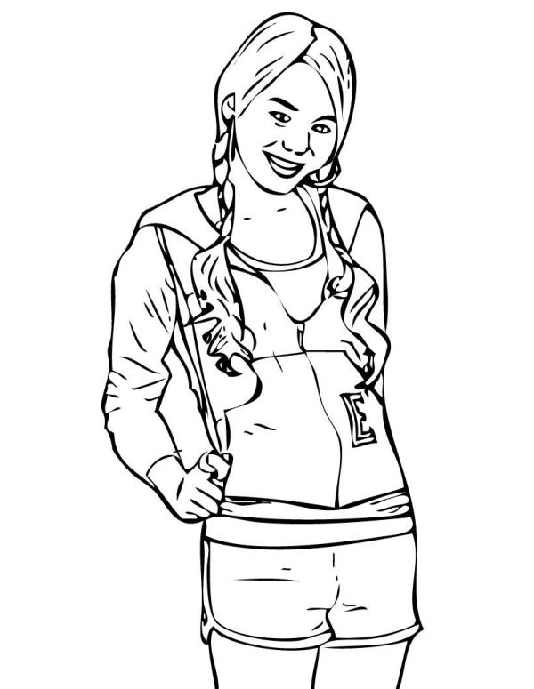 hannah montana coloring pages # 6