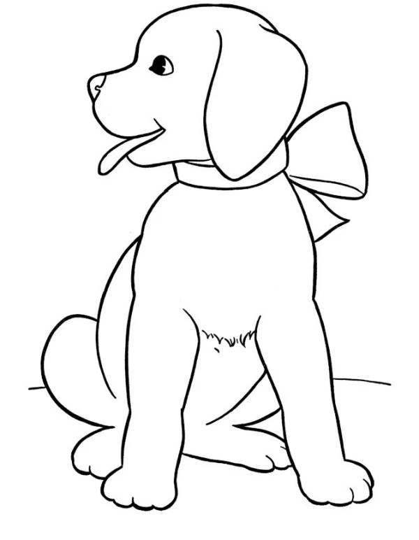 free dog coloring pages # 5