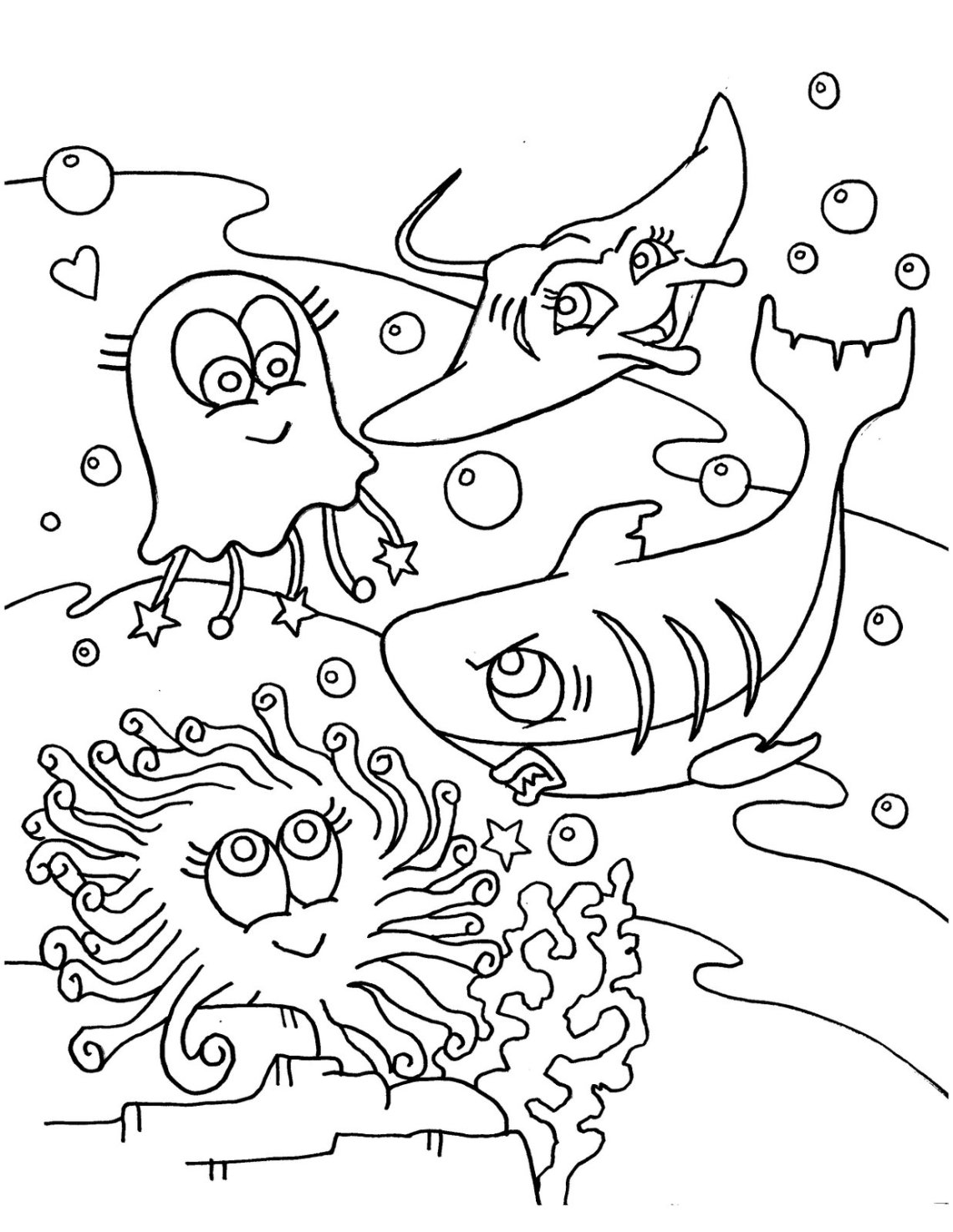 Free Printable Ocean Coloring Pages For Kids | free printable colouring pages of sea animals