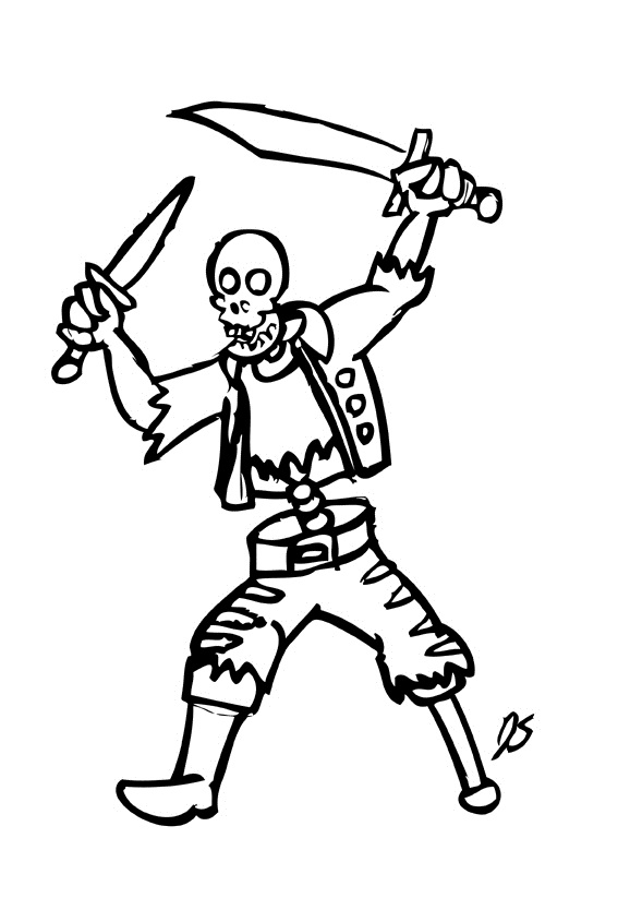 skeleton coloring page images