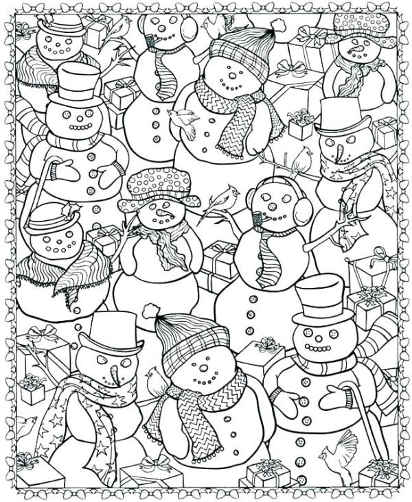 free printable winter coloring pages # 2