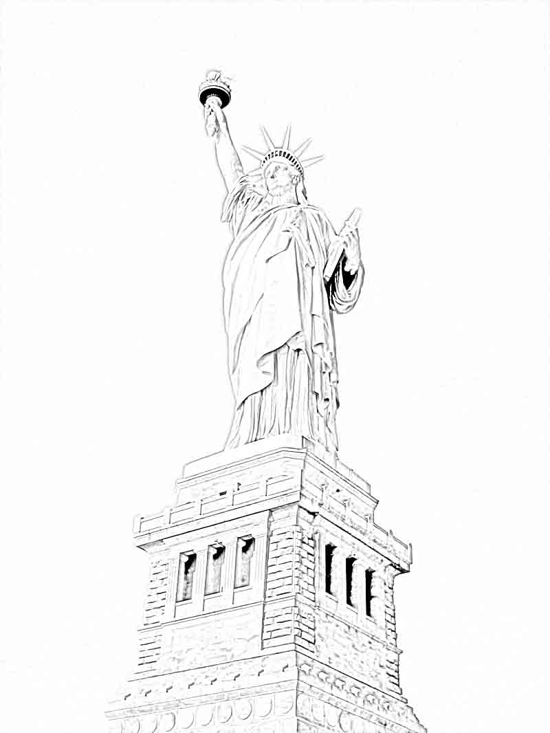 photograph regarding Printable Statue of Liberty Template named Statue Of Freedom Coloring Webpages For Kindergarten. independence