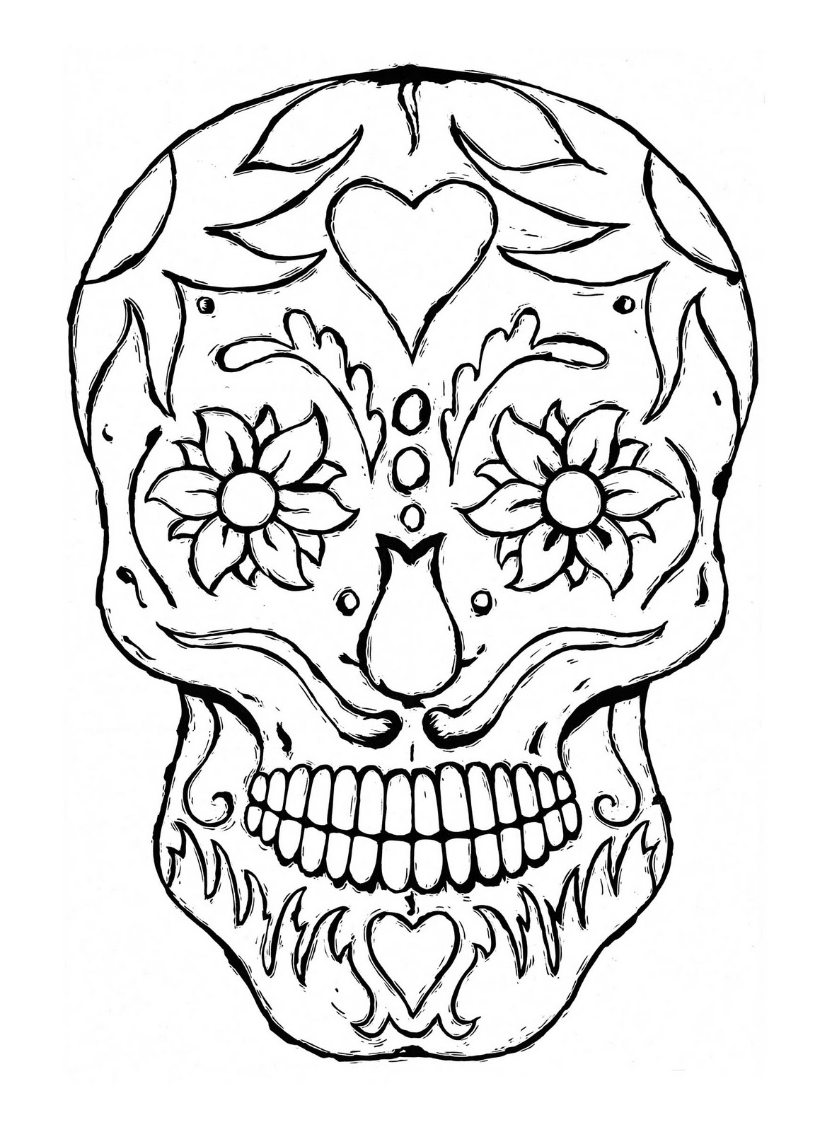 sugar skulls colouring pages